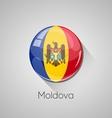 European flags set - Moldova vector image