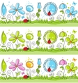 floral decorative lines vector image