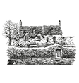 Hand drawn house vector image