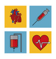 white background with frames of health control vector image