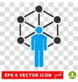 Network Person Eps Icon vector image