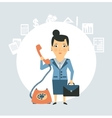 accountant talking on the phone vector image