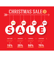 Christmas sale time line graph social activity vector image vector image