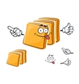 Happy sliced toasts of white bread vector image