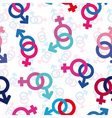 seamless gender background vector image