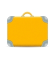 vintage Travel Suitcase isolated on white vector image