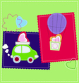 Funny and cute Valentines day patchwork vector image