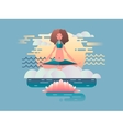Woman meditation design flat vector image vector image