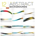 Collection of abstract backgrounds vector image vector image