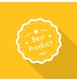Best product label vector image