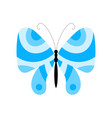 blue summer butterfly vector image