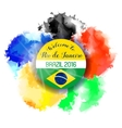 Brazil Summer 2016 Water Color Background vector image