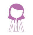 elegant businesswoman avatar character vector image