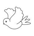 flying dove icon image vector image