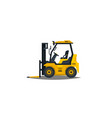 forklift isolated on white background vector image