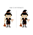 Halloween find differences game for kids vector image