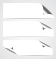 Paper Curl Banners vector image
