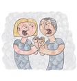 Quarrel between man and woman conceptual vector image