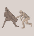 two battling gladiators vector image