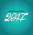 Happy new year background with decorative text vector image