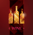 wine menu card stylized background vector image vector image