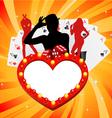 gambling illustration vector image vector image
