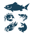 seafood signs vector image