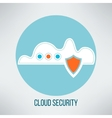 Cloud computing security icon Data protection vector image