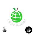 Earth apple globe logo vector image