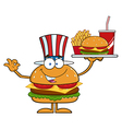 American Hamburger Cartoon vector image