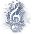 abstract musical background with treble clef vector image