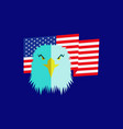 eagle head and american flag vector image