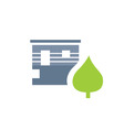 ecology living icon on white vector image
