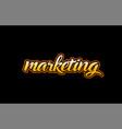 marketing word text banner postcard logo icon vector image