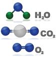Molecules vector image