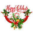 new year holiday greeting vector image