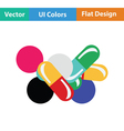 Pill and tabs icon vector image