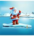 Santa Claus shows thumbs up vector image