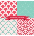 Set of seamless geometric patterns vector image
