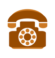 Phone symbol icon on white vector image