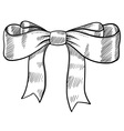 doodle bow ribbon vector image