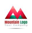 Mountain adventure Volume Logo Colorful 3d Design vector image