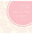 Invitation floral card vector image