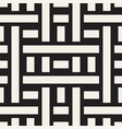 interlacing lines maze lattice ethnic monochrome vector image