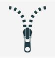open zipper  zip icon vector image