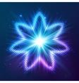 Cosmic shining abstract star vector image