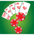 gambling background vector image