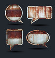 speech bubble icons grunge metal background vector image