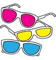 sunglasses doodle vector image
