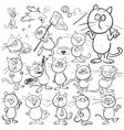 Set of hand drawn cats vector image